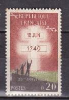 N° 1264 40ème Anniversaire De L'Appel Du Général De Gaulle:1 Timbre  Neuf Sans Charnière - France