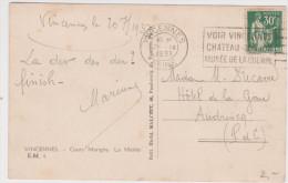 Paix 30ct Vert Vincennes Seine 1937 Cours Marigny - 1932-39 Frieden