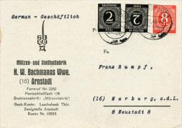 K3660 Werbekarte All. Bes. St. Arnstadt N. Marburg - Zona AAS