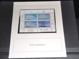 ILES MARSHALL - Bloc Luxe Avec Texte Explicatif - Belle Qualité - À Voir -  N° 11805 - Marshall