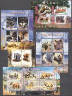 World 2008 - MNH - Elephants, Hippo, Hog, Rhinoceros, Wolf, Zebra - Francobolli