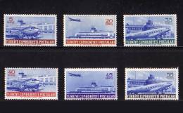 1954 TURKEY AIRMAIL STAMPS AIRPLANE MNH ** - 1921-... Repubblica