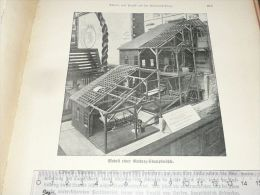 California USA Gold Quartz Stamp Mühle Engraving Print /from 1900 Expositions De Paris France/ - Prints & Engravings