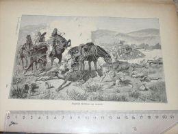 Englisch Soldiers Africa Krieg War Afrika Engraving Print /from 1900 Expositions De Paris France/ - Prints & Engravings