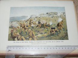 Englisch Soldiers Spion Kop Africa Krieg War Afrika Engraving Print /from 1900 Expositions De Paris France/ - Prints & Engravings