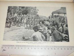 Englisch Soldiers Pretoria Africa Krieg War Afrika Engraving Print /from 1900 Expositions De Paris France/ - Prints & Engravings