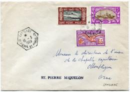 SAINT-PIERRE ET MIQUELON LETTRE DEPART LANGLADE 16-3-1969 ST PIERRE ET MIQUELON POUR LA FRANCE - St.Pierre Et Miquelon