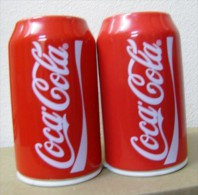 AC - COCA COLA PORCELAIN SALT & PAPPER SHAKERS PAIR FROM TURKEY - Household Necessity