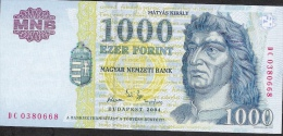 HUNGARY  P189c 1000  FORINT 2004  PREFIX DC     UNC. - Ungarn