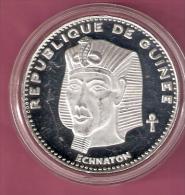 GUINEE 500 FRANCS 1970 SILVER PROOF SCARCE IKHNATON KM22 - Guinée