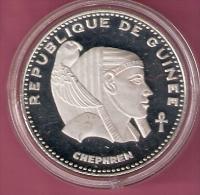 GUINEE 500 FRANCS 1970 SILVER PROOF SCARCE CHEPHREN KM23 - Guinée