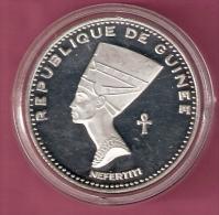 GUINEE 500 FRANCS 1970 SILVER PROOF SCARCE NEFERTITI KM25 - Guinée