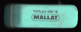1 GOMME VERTE MALLAT NEUVE TRIPLEX CRAYON DE PAPIER REFERENCE 485-16 FRANCE 6,3X2X1,6cm FERMETURE LIBRAIRIE PAPETERIE - Ohne Zuordnung