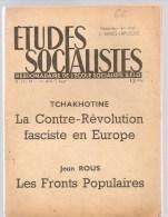 Etudes Socialistes Hebdomadaire De L´Ecole Socialiste S.F.I.O. N°17-18 Du 1er Août 1947 - Politique