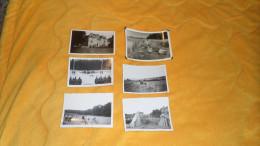 LOT DE 6 PHOTOS MILITAIRES ANNEE 1939, 4../ ALLEMAND OCCUPATION ?. PAYSAGE VILLE. / ANOTATION AU DOS ALLEMAND ? - Krieg, Militär