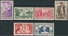 Guadeloupe 1937. Michel #137/42 MNH(**)/Luxe. 1937 World Exhibition, Paris (Ts48) - 1937 Exposition Internationale De Paris