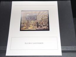 ILE DE L ASCENSION - Bloc Luxe Avec Texte Explicatif - Belle Qualité - À Voir -  N° 11820 - Ascension (Ile De L')