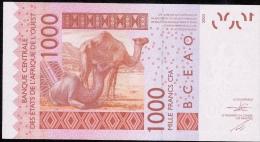W.A.S. C=BURKINA FASO P315Cd 1000 FRANCS (20)15   UNC. - Stati Dell'Africa Occidentale