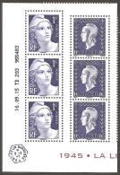2015 -Salon D´AUTOMNE -Coin Daté (6 Timbres ) Du Bloc LIBERATION -NEUF ** LUXE ( 3 Gandon +3 Dulac ) Faciale=2.00 - Neufs