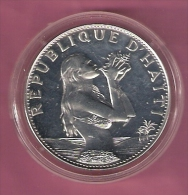 HAITI 50 GOURDES 1974 SILVER WOMAN ON THE BEACH KM104.1 - Haïti