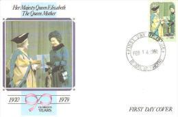 58190)  FDC DI-ST. VINCENT & GRENADINE-LA REGINA ELISABETTAII° E LA REGINA MADRE-1-4-1991 - St.Vincent E Grenadine