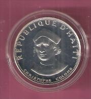 HAITI 25 GOURDES 1974 SILVER COLUMBUS KM102 - Haïti