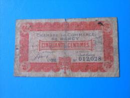 Lorraine Meurthe-et-Moselle 54 Nancy Chambre De Commerce  , 1ère Guerre Mondiale 50 Centimes 1-1-1921 - Chambre De Commerce