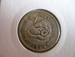 Australie: 1 Shilling 1950 - Monnaie Pré-décimale (1910-1965)