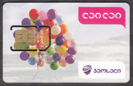 Georgia Geosell Lai Lai GSM SIM Card With Chip Not Used - Georgië