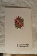 MENU GRANDES BRASSERIES DE CHAMPIGNEULLES 1966 - Menu