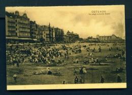 BELGIUM  -  Ostende  La Plage A Maree Basse  Unused Vintage Postcard - Oostende
