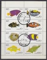 Iso Local Sweden Fish 8v In Sheetlet Used Cto (F5106) - Fantasie Vignetten