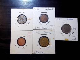 5 PIECES MIX COINS - Monnaies & Billets
