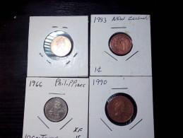 4 PIECES MIX COINS - Monnaies & Billets