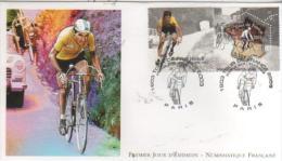 PARIS  Tour De France 1903/2003  Bernard Hinault Dit Le Blaireau 5 Fois Vainqueur Du Tour  28/06/03 - Cyclisme