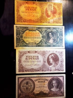 4 PIECES PENGŐ / HUNGARIAN BANKNOTES FROM 1930-40'S - Hungary
