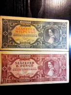 2 PIECES PENGŐ / HUNGARIAN BANKNOTES FROM 1930-40´S - Hungary