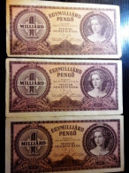3 PIECES PENGŐ / HUNGARIAN BANKNOTES FROM 1930-40´S - Hungary