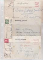 LOT DE 6 LETTRES A ENTETE ASSEMBLEE NATIONALE ANNEE 1957 A 1962 - Marcophilie (Lettres)