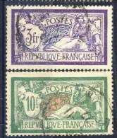 Francia 1925 - 26  N. 206-207 Tipo Merson Usati Catalogo € 25 - Gebraucht