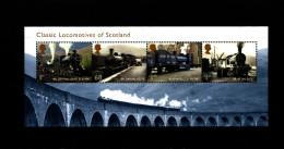 GREAT BRITAIN - 2012  LOCOMOTIVES OF SCOTLAND  MS  MINT NH