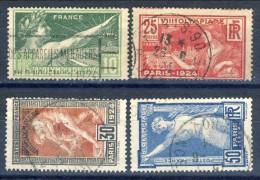 Francia 1924 Serie N. 183-186 Olimpiadi Parigi Usati Catalogo € 20 - Gebraucht