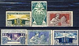 Francia 1924 - 25 Serie N. 210-215 Expo Arti Figurative Usati Catalogo € 14 - France
