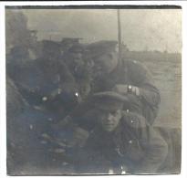 Soldats Ramskapelle Ferme Wolvennest  Yser 1916 13° Rég. Guerre 14-18 Photo 8,5x8,5 - Guerre, Militaire