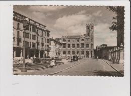 CPSM - LEON - Plaza De La Cathedral Y Edificio De Correos Y Télégrafos - Espagne