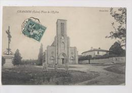 Chandon - Place De L'église En 1909 - Otros Municipios