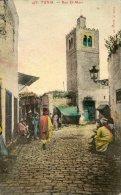 V1613 Cpa Tunis - Rue El Marr - Tunisie