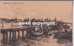 TRIPOLI-l´imbarcadero-vg 27/9/14-francobollo Con Scritta Libia-OTTIMA CONSERVAZIONE-2SCAN- - Libya