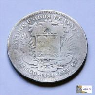 Venezuela - 50  Centavos - 1874 - Scarce - Venezuela