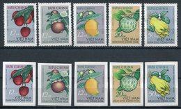1964-VIETNAM - FRUITS-CPL.SET PERF.+IMPERF.-M.N.H. -LUXE ! - Vietnam